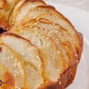 кунжутно-яблочный кекс