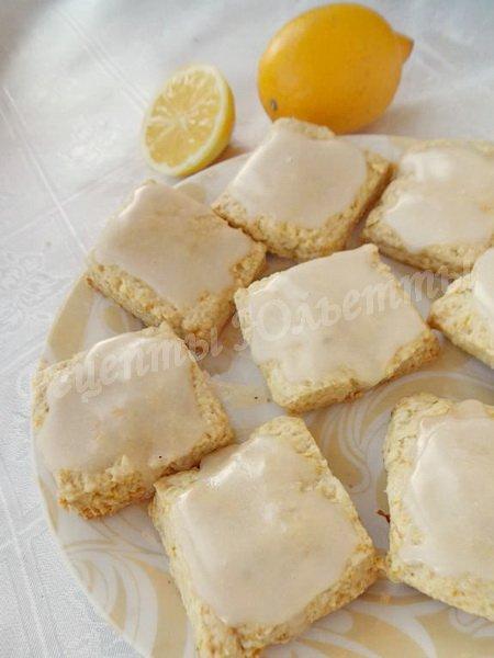вкусное печенье с лимоном