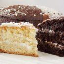 двухцветный торт