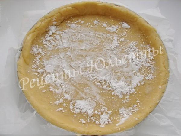 песочный корж для пирога