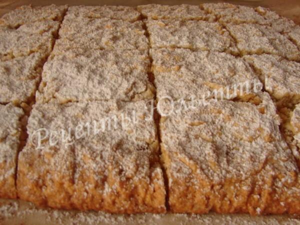 вкусный лимонный пирог из песочного теста